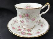 Royal Albert Victoriana Rose tea cup & saucer